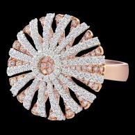 梵妮 玫瑰金造型戒指