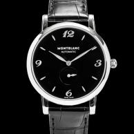 107072萬寶龍STAR黑面小秒針 自動腕錶--39mm