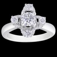 鬱金香 鑽石戒指